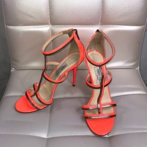 Jimmy choo tabitha thistle orange heels sandals